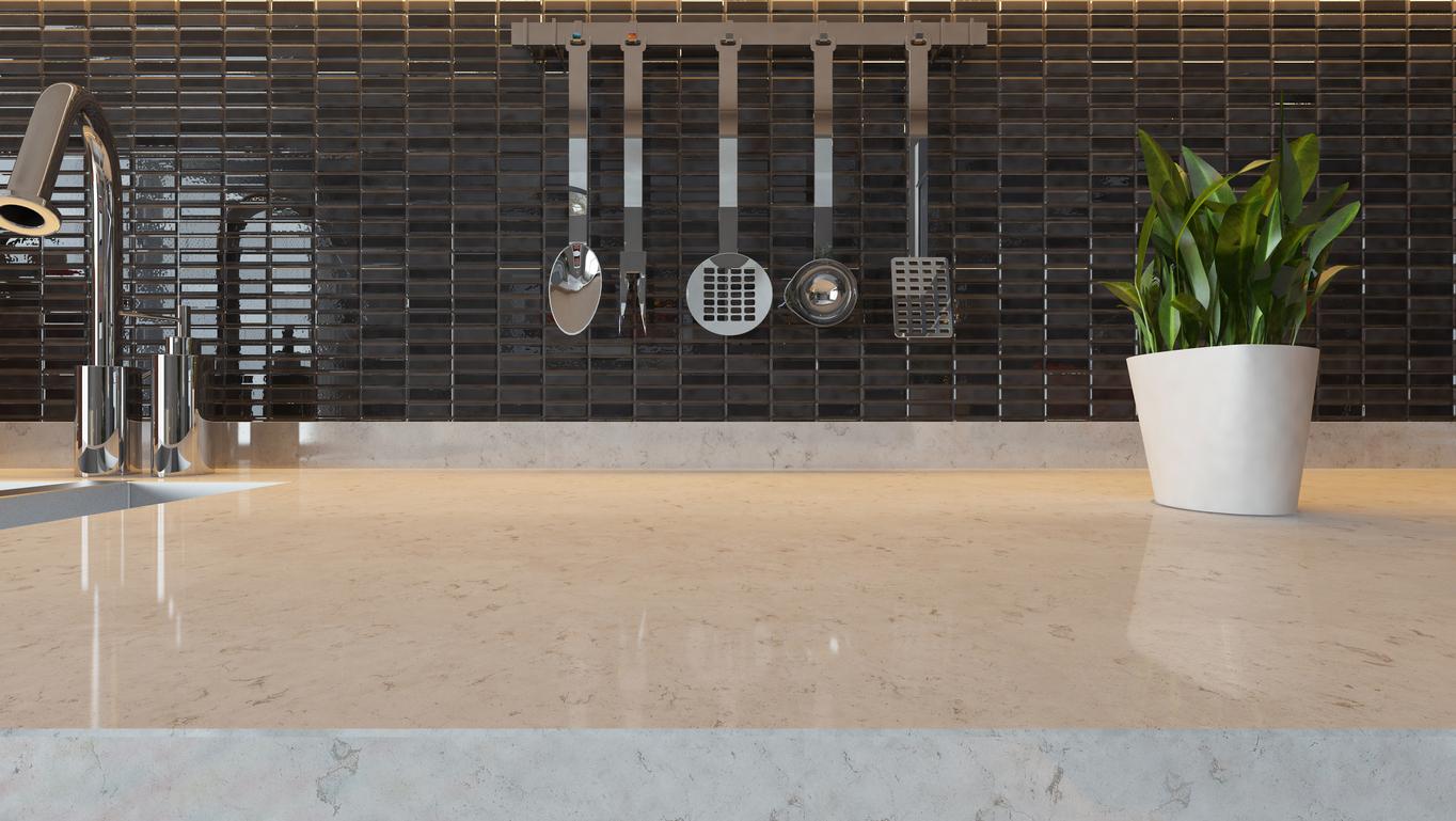 black ceramic modern kitchen design background